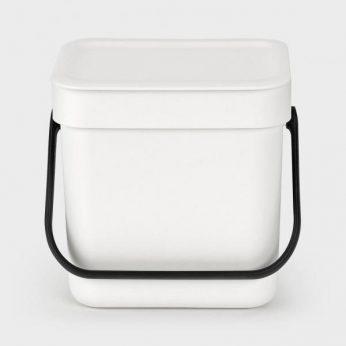 Afvalemmer Sort&Go 3 liter White Brabantia - in Prullenbakken