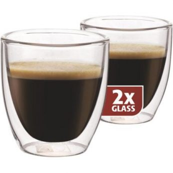 Dubbelw.glas espresso 2 stuks Maxxo