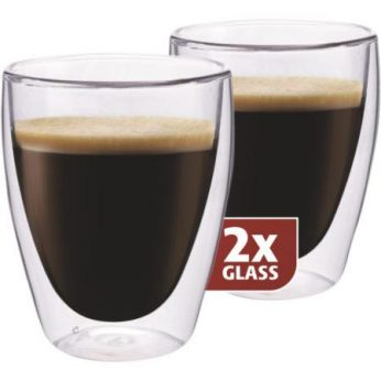 Dubbelw.glas koffie 2 stuks Maxxo