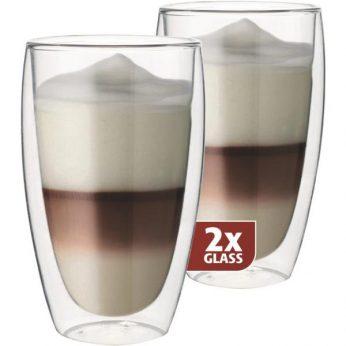 Dubbelw.glas latte macchiato 2 stuks Maxxo