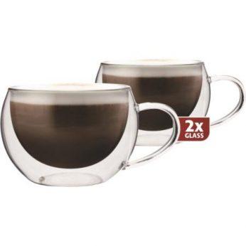 Dubbelw.glas cappuccino 2 stuks Maxxo