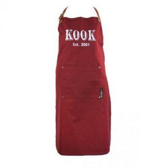 Schort Vintage Bordeaux KOOK - in Keukenschorten