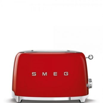 Broodrooster 2×2, rood Smeg - in Broodbereiding & Grills