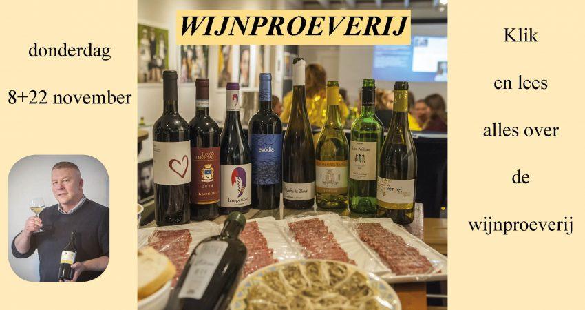 Wijnproeverij 8 en 22 november 2018