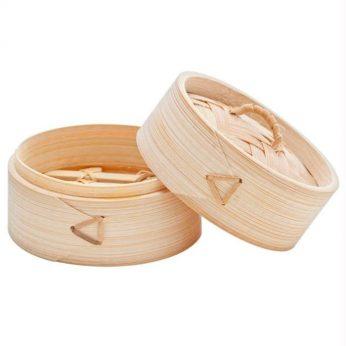Stoommandje bamboe 15cm Cosy & Trendy