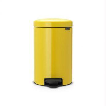 Pedaalemmer 12ltr.Yellow NewIc Brabantia* - in Prullenbakken