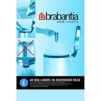 Vuilniszkn 20 liter laag E 40s Brabantia