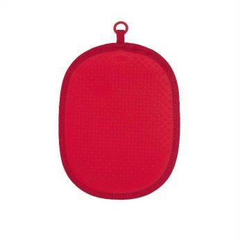 Pannenlap silicone/stof rood OXO - in Pannenlappen & Ovenwanten